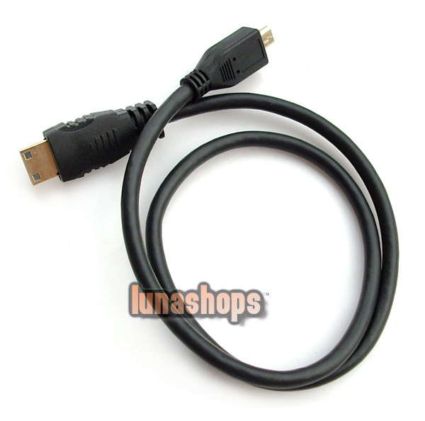 Micro HDMI Male To Mini HDMI Male Adapter Converter Cable for HDTV DVD