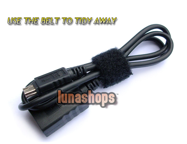 USB 2.0 Black Female to Mini Male adapter Converter Cable