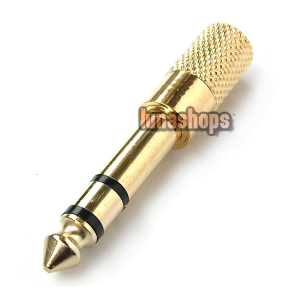 1 6.5mm Male to 1 3.5mm Female Stereo Audio adapter