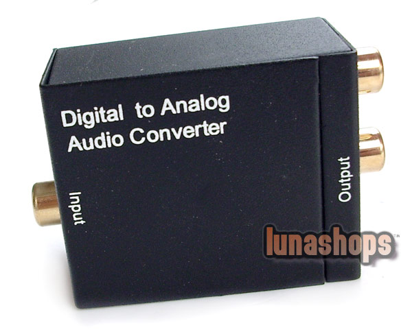 Digital Optical Coaxial to Analog RCA Audio Converter Adapter