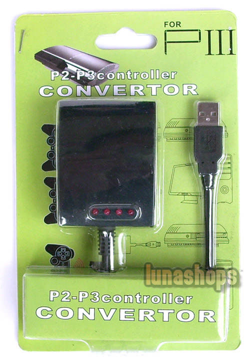 USB 4 in 1 PS2 to PS3 PC Controller Adapter Converter