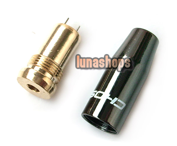 1PCS 24K Gold-Plated 3.5mm Female Choseal Plugs Adapter
