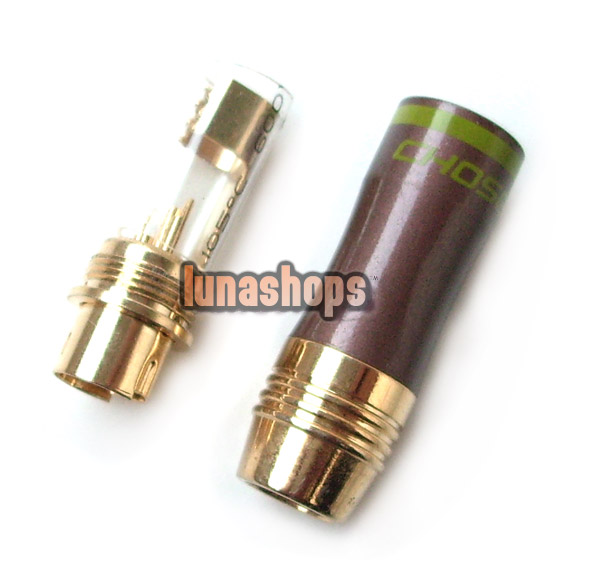 1 pcs Choseal 4pin S-video Plug Connector Gold Plated Adapter