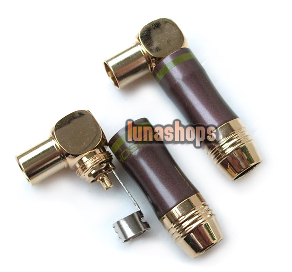 1pcs 24K Gold Plated TV RF LS-53e Male Plug Adapter Choseal