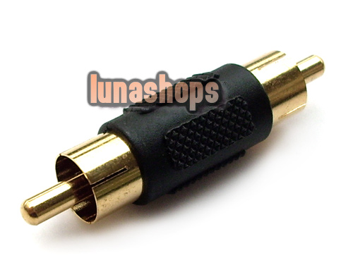 RCA AV Male To Male Audio Video Connector AdapterMale
