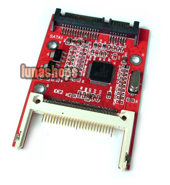 "CF Compact Flash Type I II Merory Card to 2.5"" SATA 7+15 22Pin converter Adapter"