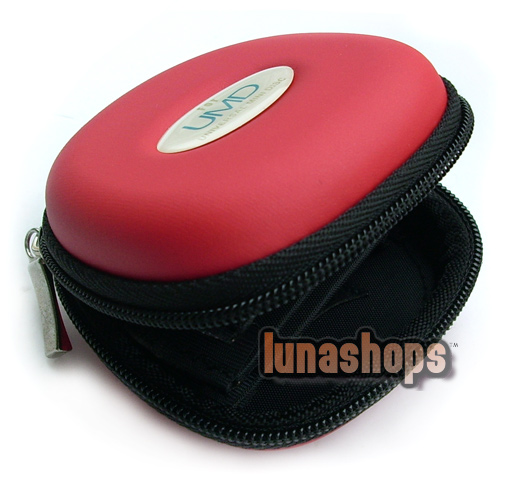 Red Carry Case Bag For Sony PSP 5 UMD Discs 2-Memory