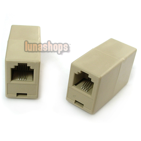 2pcs RJ11 4 pin Female To RJ11 4-pin Female Adapter Connector Network