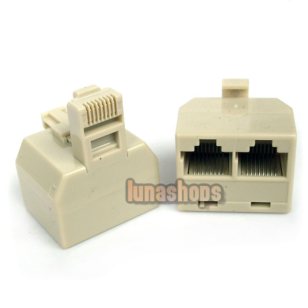 Splitter RJ45 Male on Lead to 2 RJ45 Female Adapter