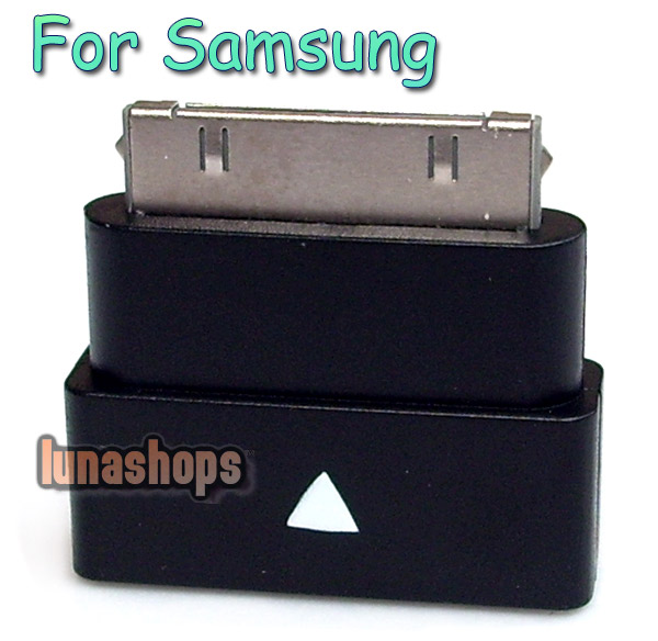 Male to Female Extension Dock Extender 30 pin Adapter for Samsung Galaxy Tab