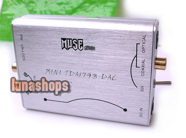 MUSE tda1793 SPDIF+OPTICAL DAC--PCM1793+DIR9001+OPA2134