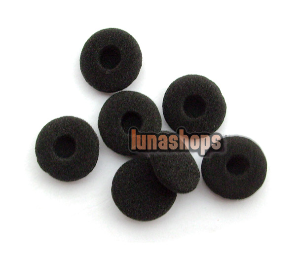 3 Pairs Ear Pad Foam Earbud Cover for Headphone earphone Black