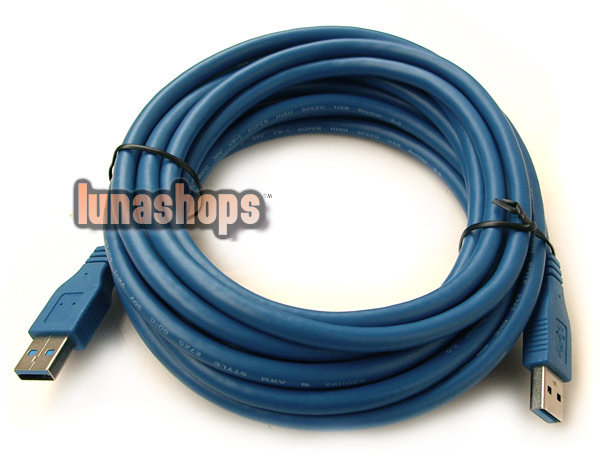 500cm USB 3.0 AM Male to Male Extension Cable