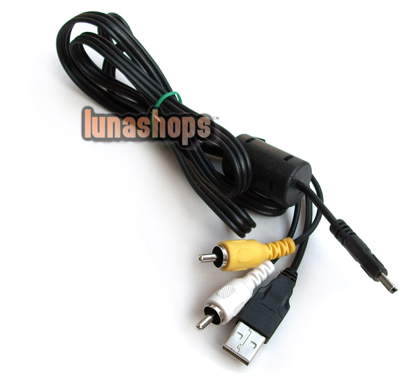 Mini USB Male To 2 RCA AV + USB Male Cable