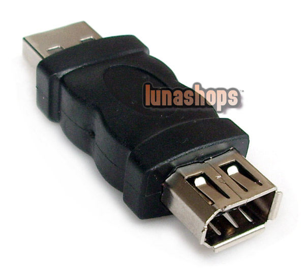 Firewire IEEE 1394 6 Pin Female to USB Type A Male Adapter Converter Connector