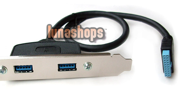 2 Ports USB 3.0 Female Screw to Motherboard 20 pin cable With PCI Bracket Card