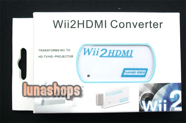 Wii to HDMI 720P 1080P 3.5mm audio Converter Adapter Box 2