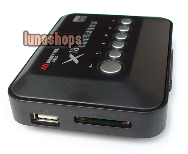Manytel X-18 mini HD USB HDMI SD/MMC USB YPbPr AC Player Full 1080p