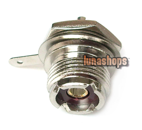 UHF Female jack SO239 nut bulkhead deck clip solder cup RF Antenna connector Adapter