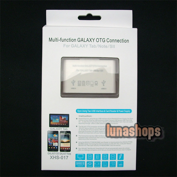 Multi-function GALAXT OTG Connection for Samsung Galaxy Tab/Note/SII