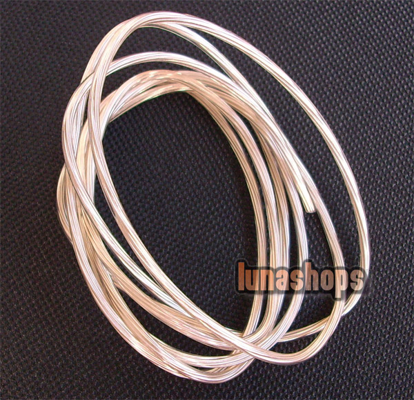 OFC Copper + Silver Hifi Cable For DIY Speaker Internal Signal Cable dia 0.2mm
